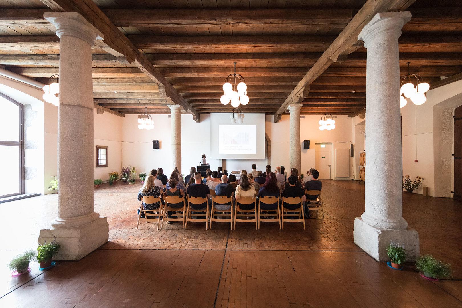 Der Säulensaal im Landhaus Solothurn