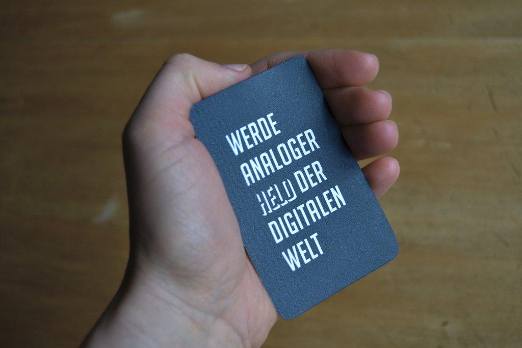 """Jugend """"Analoger Held"""" (Vorderseite)"""
